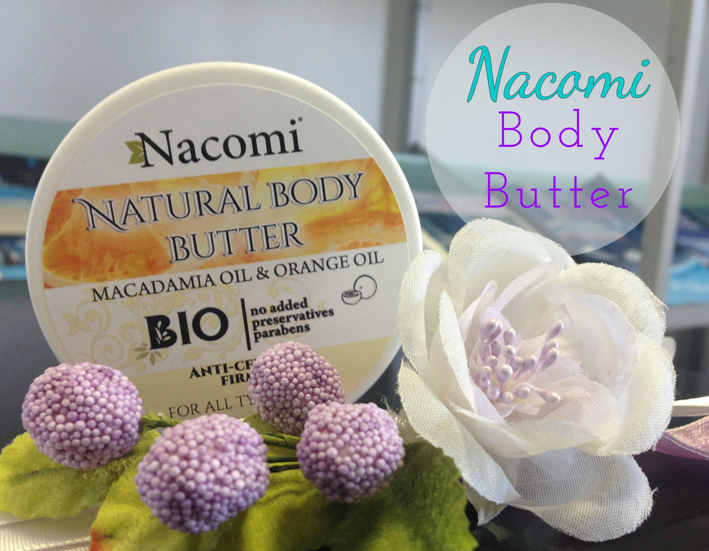 Nacomi – Burro corpo Macadamia e Arancia